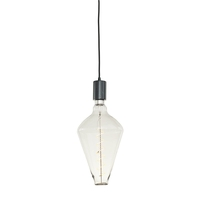 Bulbrite LED4DIA/22K/FIL/PEND/HW/NAT/BLK-BLK Natural LED Black Pendant Ceiling Light