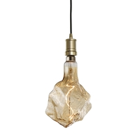 Bulbrite LED4GLACIER/20K/FIL-NOS/PEND/HW/CONT/WG-BLK Contemporary LED 8 inch Antique Pendant Ceiling Light