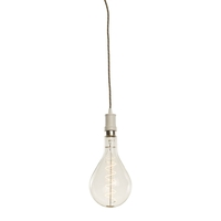 Bulbrite LED4PS52/22K/FIL/PEND/HW/CONT/WHT-MULT Contemporary LED White Pendant Ceiling Light