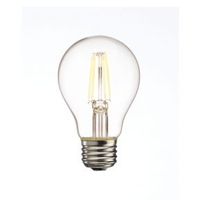 Bulbrite LED5A19/227K/FIL/2 LED Clear Filaments LED A19 E26 5 watt 120V 2700K Light Bulb photo thumbnail
