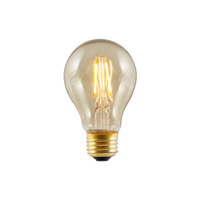 Bulbrite LED5A19/22K/FIL-NOS/2 Nostalgic Filaments LED A19 E26 5 watt 120V 2200K Light Bulb thumb