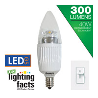 Bulbrite LED Dimmable 5W E12 Light Bulb in Soft White LED5CTC/30K/D