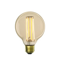 Bulbrite LED5G25/22K/FIL-NOS/2 Nostalgic Filaments LED G25 E26 5 watt 120V 2200K Light Bulb thumb