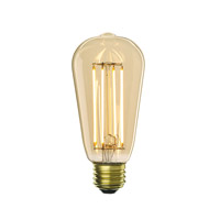 Bulbrite LED5ST18/22K/FIL-NOS/2 Nostalgic Filaments LED ST18 E26 5 watt 120V 2200K Light Bulb thumb