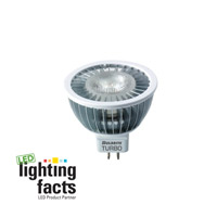 Bulbrite 6W 12V LED Turbo MR16 Bi-Pin Narrow Flood, Warm White LED6MR16WW/NF