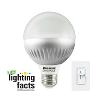 Bulbrite LED8G25/27K/D LED Dimmable LED G25 E26 8 watt 120V 2700K Bulb photo thumbnail