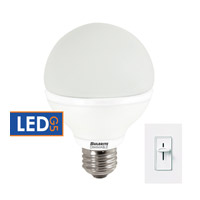 Bulbrite 8-Watt Dimmable LED G25 Globe, Medium Base, Warm White LED8G25/O/27K/D