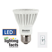 LED Dimmable LED PAR20 E26 8 watt 120V 3000K Bulb in Narrow Flood