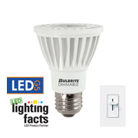 LED Dimmable LED PAR20 E26 8 watt 120V 4000K Light Bulb in Narrow Flood