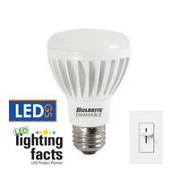 Bulbrite LED Dimmable 8W E26 Light Bulb in Soft White LED8R20/30K/D
