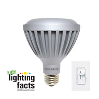 LED Dimmable LED PAR30 E26 9 watt 120V 3000K Bulb in Narrow Flood