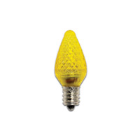 Bulbrite 0.35 Watt LED C7 Replacement Holiday Bulbs Candelabra Base Yellow 25-Pack LED/C7Y-25PK