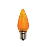 Holiday LED C9 E17 0.35 watt 120V Light Bulb in Orange, 25