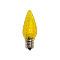 Holiday LED C9 E17 0.35 watt 120V Light Bulb in Yellow, 25