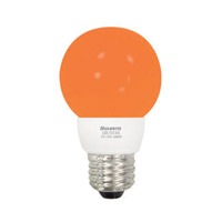 Bulbrite LED/G16A LED Non-Dimmable LED G16 E26 1 watt 120V Bulb in Amber  photo thumbnail