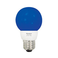 Bulbrite 1W LED Decorative G16 Globe - Blue LED/G16B