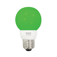 Bulbrite 1W LED Decorative G16 Globe - Green LED/G16G