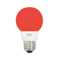 Bulbrite 1W LED Decorative G16 Globe - Red LED/G16R