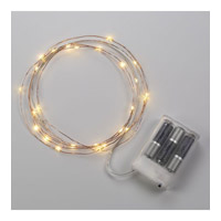 Bulbrite Starry Lights Single-Strand Battery Powered Base LED Outdoor String Light in Copper LED/STAR/COP/S/27K