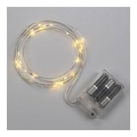 Bulbrite LED/STAR/SIL/S/27K Starry Lights Silver 2700K 36 inch LED Indoor String Lights in 1.5 1