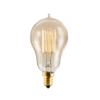 Bulbrite NOS25A15/SQ/E12 Nostalgic Incandescent A15 E12 25 watt 120V 1800K Light Bulb in Antique, Thread thumb