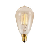 Bulbrite NOS25ST15/SQ/E12-4PK Nostalgic Incandescent ST15 E12 25 watt 120V 2200K Bulb, Pack of 4 thumb
