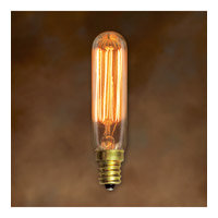 Bulbrite 25 -Watt Nostalgic Edison T6 Tubular, Vintage Thread Filament, Candelabra Base NOS25T6/SQ/E12 photo thumbnail