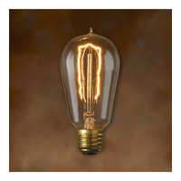 Bulbrite NOS40-1890 Nostalgic Incandescent ST18 E26 40 watt 120V 2200K Bulb in Antique photo thumbnail