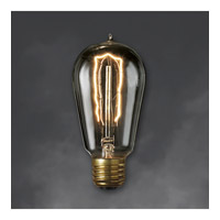 Nostalgic Incandescent ST18 E26 40 watt 120V 2200K Bulb in Smoke