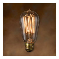 Nostalgic Incandescent ST18 E26 40 watt 120V 2100K Bulb in Antique