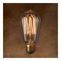 Bulbrite NOS40-1910-4PK Nostalgic Incandescent ST18 E26 40 watt 120V 2200K Bulb Pack of 4
