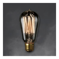 Nostalgic Incandescent ST18 E26 40 watt 120V 2100K Bulb in Smoke