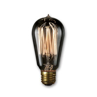Bulbrite NOS40-1910/SMK Nostalgic Incandescent ST18 E26 40 watt 120V 1800K Light Bulb in Smoke, 2100K photo thumbnail