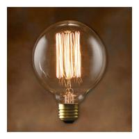 Bulbrite 40W Nostalgic G30 Edison Globe, Thread filament style NOS40G30