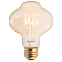Bulbrite NOS40-LANTERN-4PK Nostalgic Incandescent BT27 E26 40 watt 120V 2200K Bulb Pack of 4