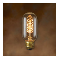 Bulbrite NOS40T14 Nostalgic Incandescent T14 E26 40 watt 120V 2100K Bulb in Antique, Spiral photo thumbnail