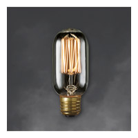 Bulbrite NOS40T14/SQ/SMK Nostalgic Incandescent T14 E26 40 watt 120V 1800K Light Bulb in Smoke, Thread alternative photo thumbnail