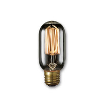 Bulbrite NOS40T14/SQ/SMK-4PK Nostalgic Smoke Incandescent T14 E26 40 watt 120V 1800K Bulb Pack of 4