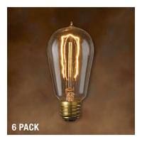 Nostalgic Incandescent ST18 E26 40 watt 120V 2200K Bulb in Antique