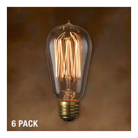 Bulbrite NOS40-1910-6PK Nostalgic Incandescent ST18 E26 40 watt 120V 2100K Bulb in Antique photo thumbnail