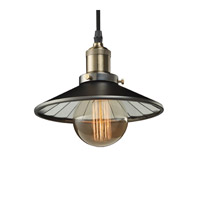 Bulbrite Nostalgic 1 Light Pendant in Pewter With Shade NOS/PEND/SHADE-PW