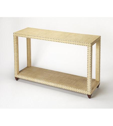 Outstanding Butler Loft Danilo 48 X 14 Inch Cream Raffia Console Sofa Table Inzonedesignstudio Interior Chair Design Inzonedesignstudiocom