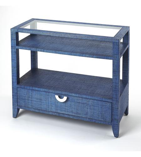 Excellent Butler Loft Amelle Blue Raffia 36 X 16 Inch Navy Raffia Console Sofa Table Inzonedesignstudio Interior Chair Design Inzonedesignstudiocom
