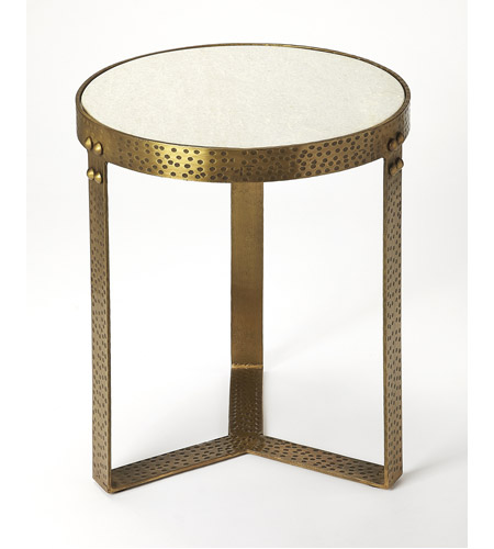 Butler Loft Elton Marble Metal 22 X 18 Inch And Accent Table