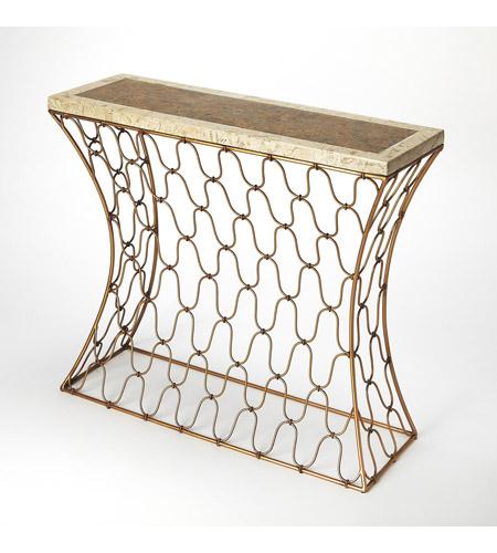 Sensational Olga Fossil Stone Metal 36 X 12 Inch Metalworks Console Sofa Table Spiritservingveterans Wood Chair Design Ideas Spiritservingveteransorg