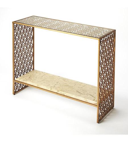 Strange Cambria Fossil Stone Metal 36 X 13 Inch Cosmopolitan Console Sofa Table Spiritservingveterans Wood Chair Design Ideas Spiritservingveteransorg