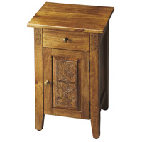 Webster Hand Carved Artifacts Chairside Chest