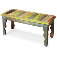 Rao Painted Wood Artifacts Bench