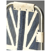 Industrial Chic Shelton Denim Butler Loft Accent Chair alternative photo thumbnail