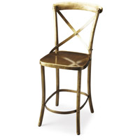 Bennington Antique Gold 42 inch Industrial Chic Barstool